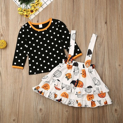 Polka Dot Pumpkin Outfit