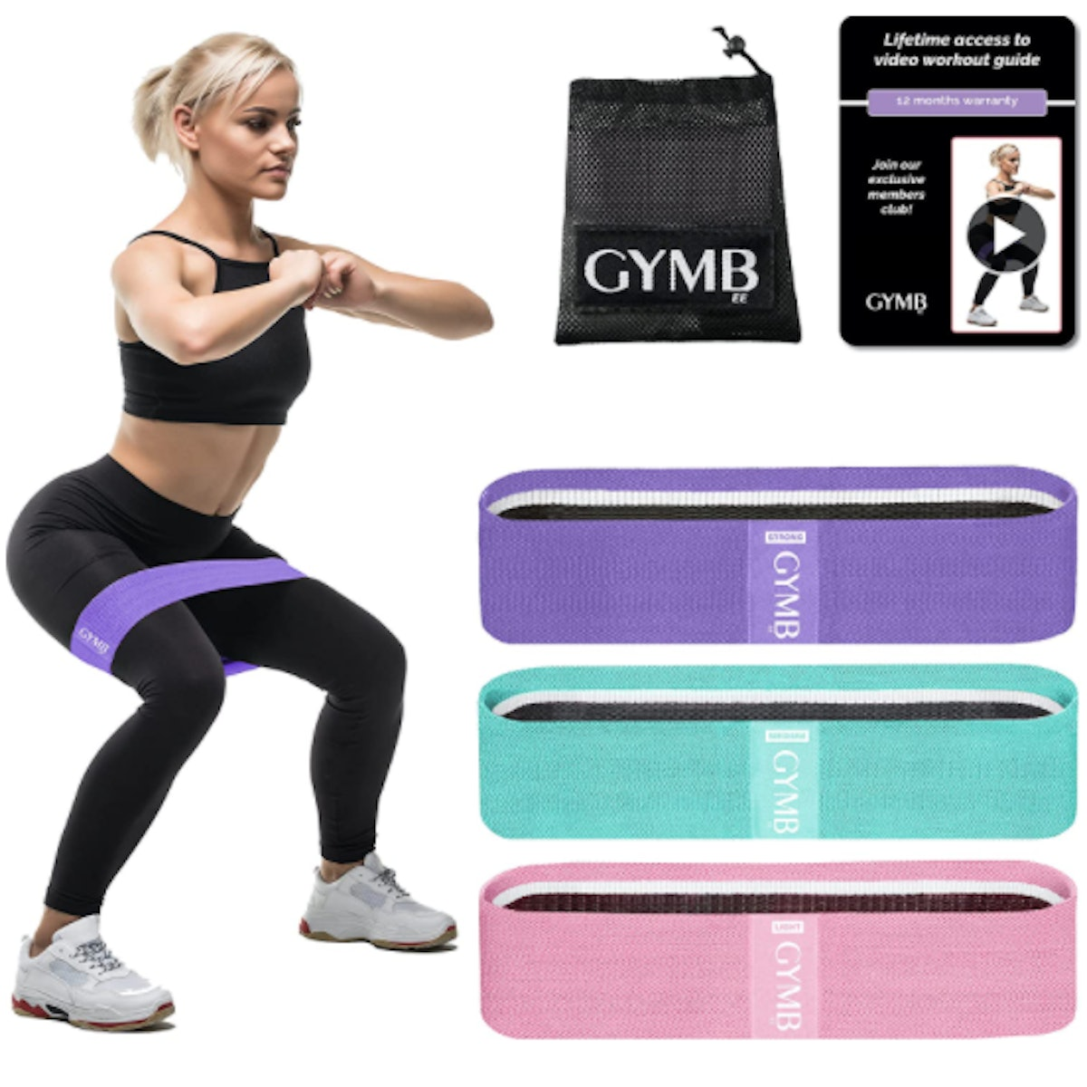 Gymbee Fabric Resistance Bands (3-Pack)