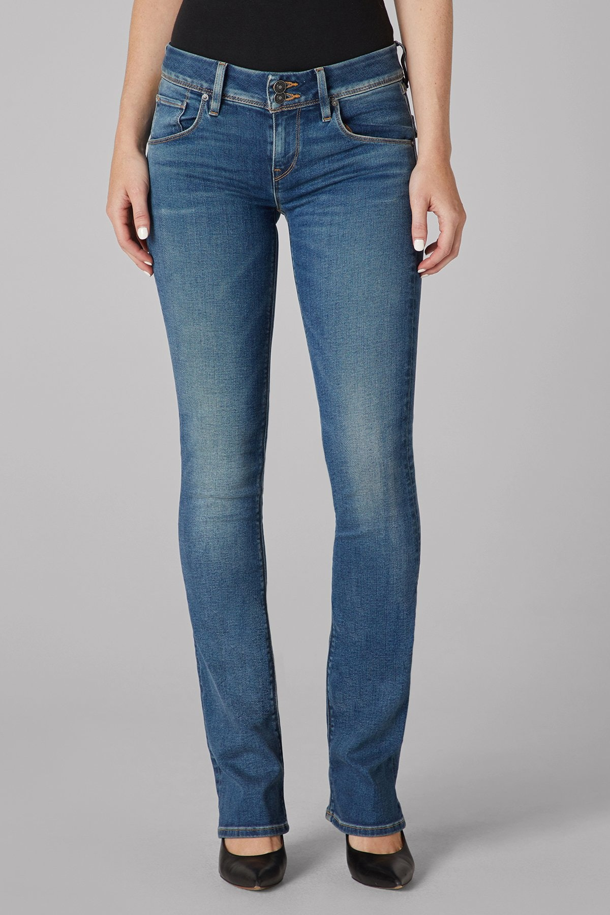 Beth Mid-Rise Baby Bootcut Jean from HUDSON JEANS.