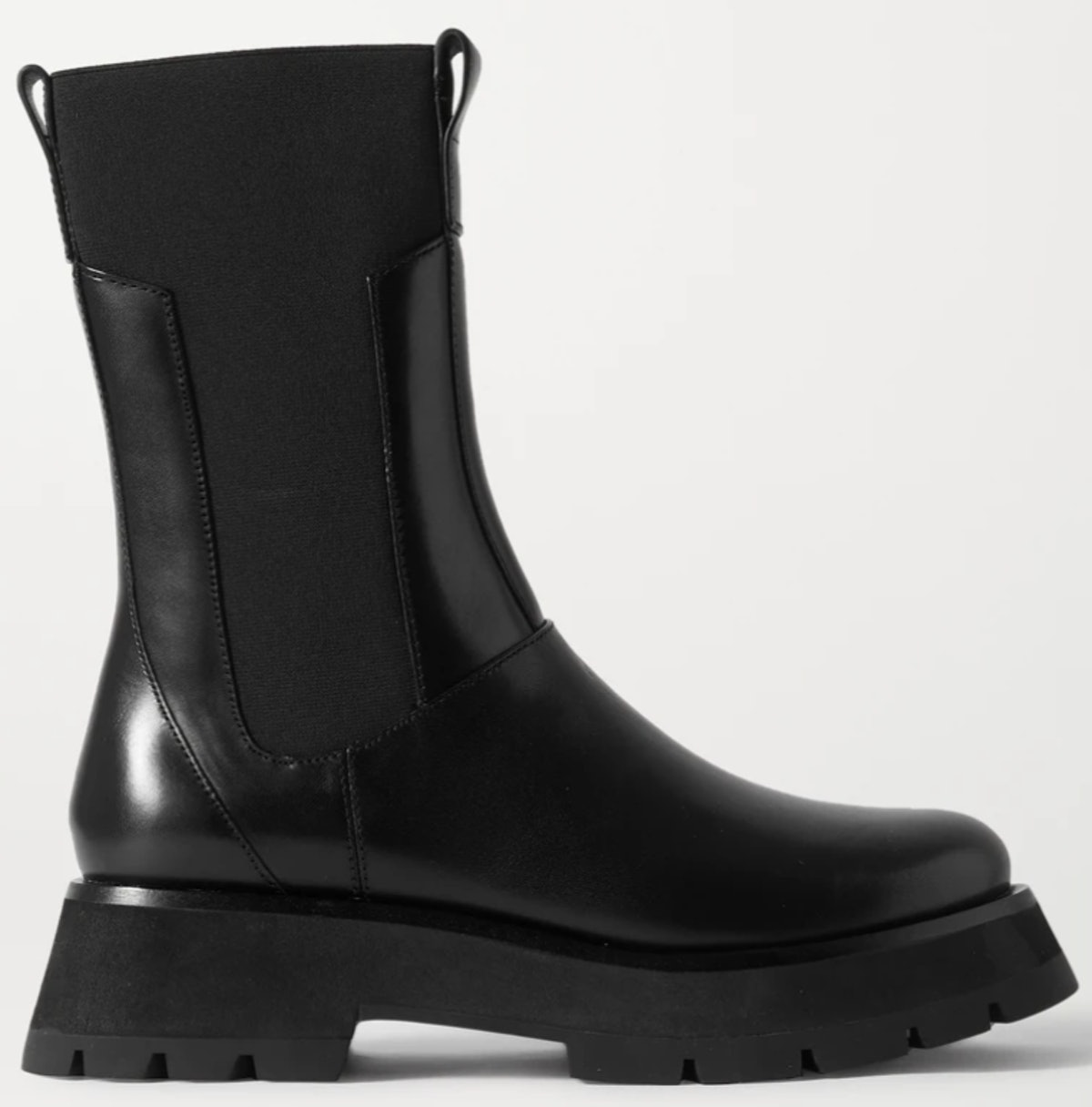 Phillip Lim's Kate Leather Chelsea Combat Boots in black.