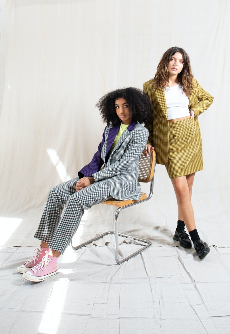 Depop & Hurr collaboration. Models wear designer items ready for resale on The Loop