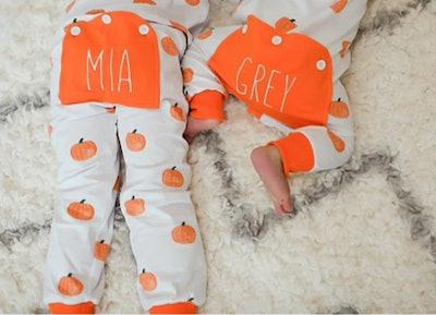 Personalized Pumpkin Pajamas