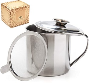 Aulett Home Bacon Grease Container With Strainer