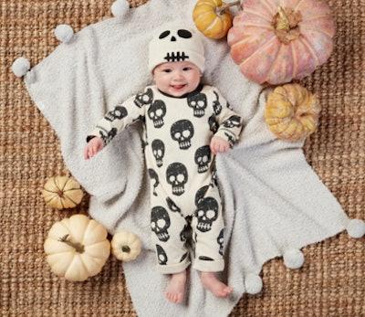 Skeleton Baby Bodysuit & Hat