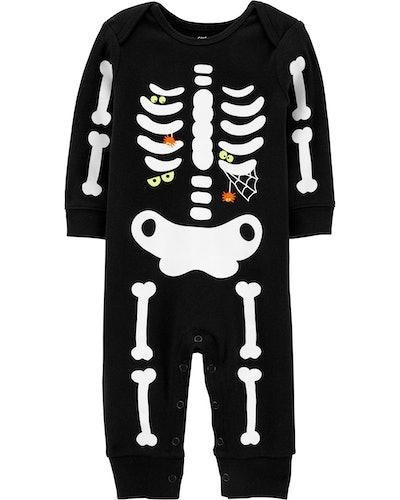 Glow Halloween Skeleton Jumpsuit