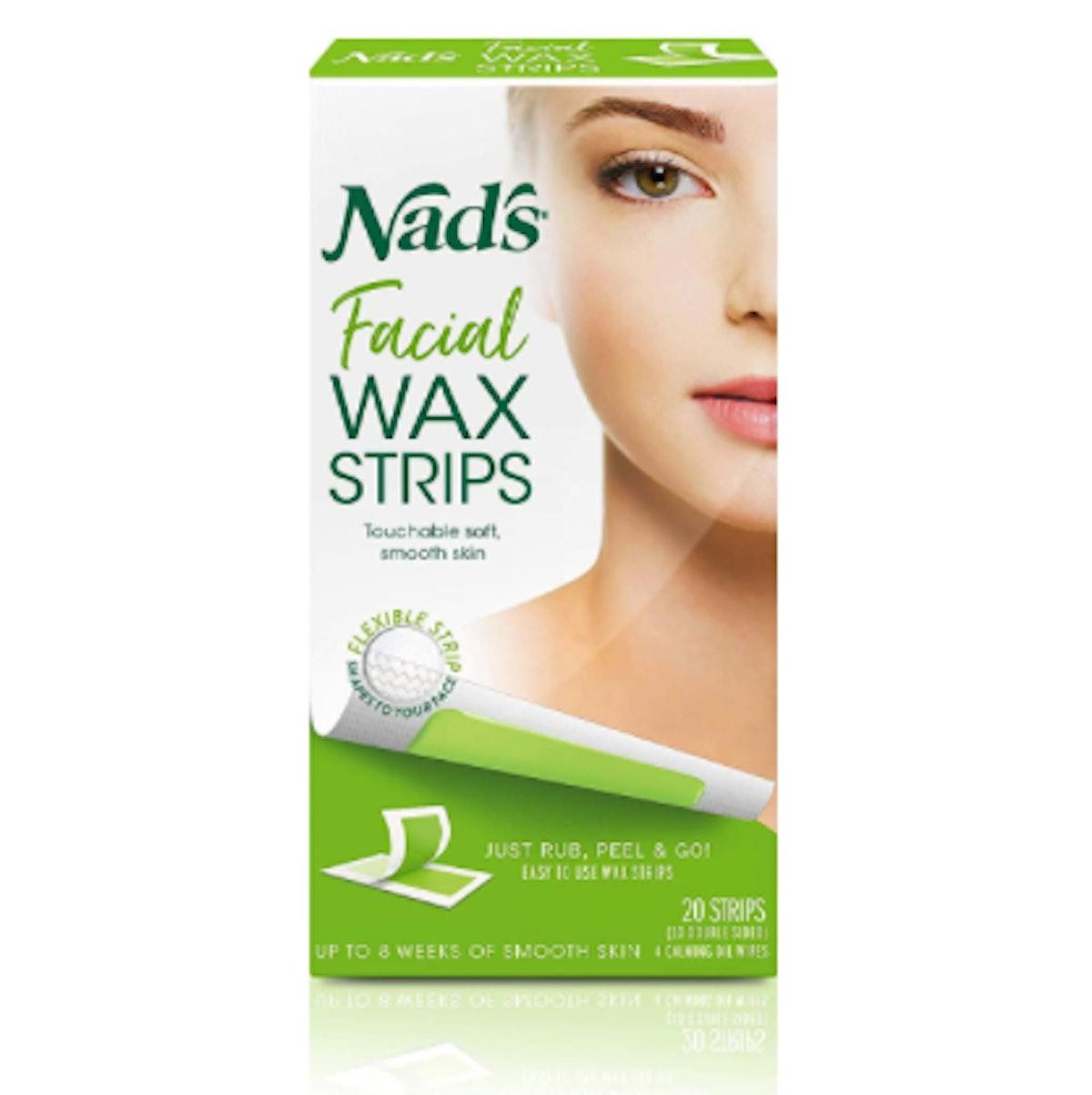 Nad's Facial Wax Strip (20 Count)