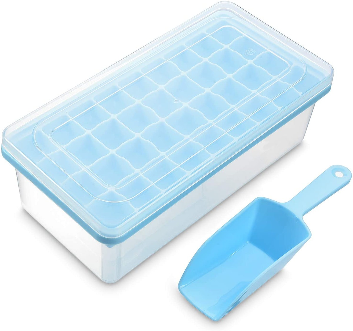 Yoove Ice Cue Tray with Lid & Bin