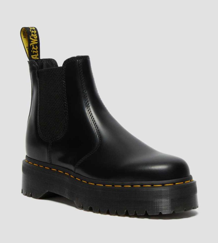 Dr. Marten's black 2976 chelsea boots.