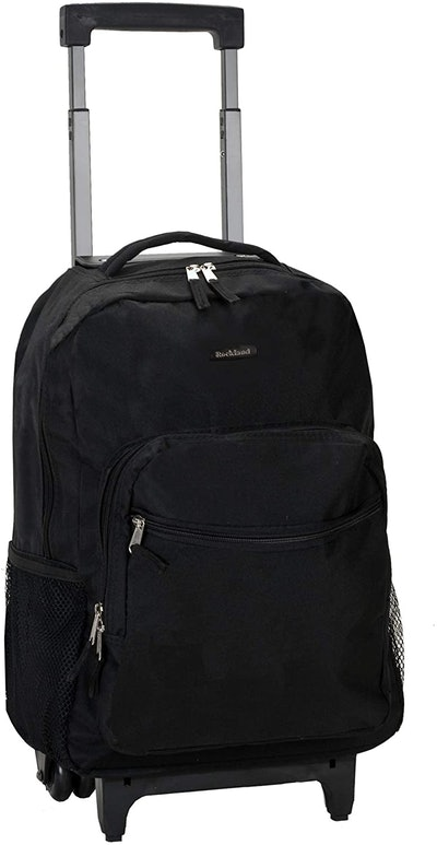 Rockland Double Handle Rolling Backpack