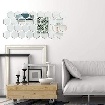 Shappy Acrylic Mirror Wall Decals (32-Pieces)