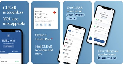 """The CLEAR app recently launched a new feature called """"Health Pass,"""" in which users can upload their ..."""
