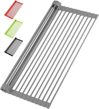 Zulay Kitchen Roll Up Dish Drying Rack