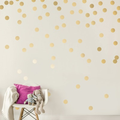 Decals for the Wall Gold Wall Dots (200-Pack)