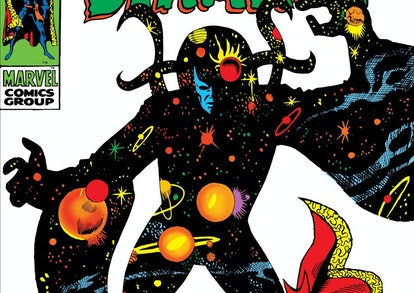 Eternity appears on the cover of Marvel Comics' 'Doctor Strange' Vol. 1 #180.