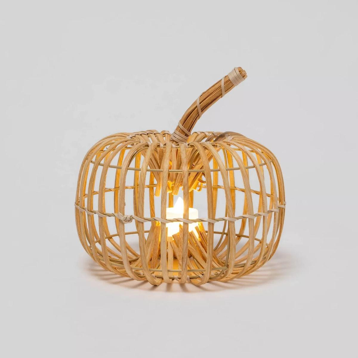 Harvest Round Chipwood Pumpkin Lantern - Hyde & EEK! Boutique