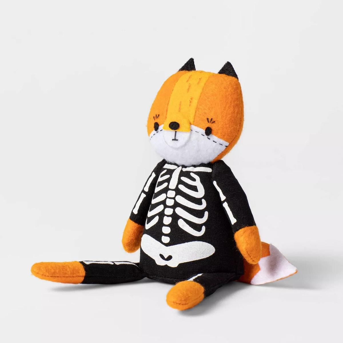 Trick or Treat Fox Skeleton Halloween Decorative Figurine - Hyde & EEK! Boutique