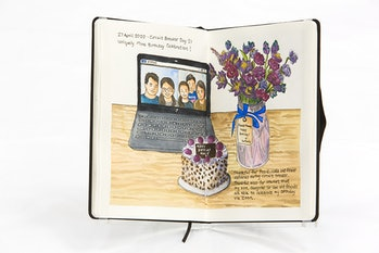 illustrated covid journal