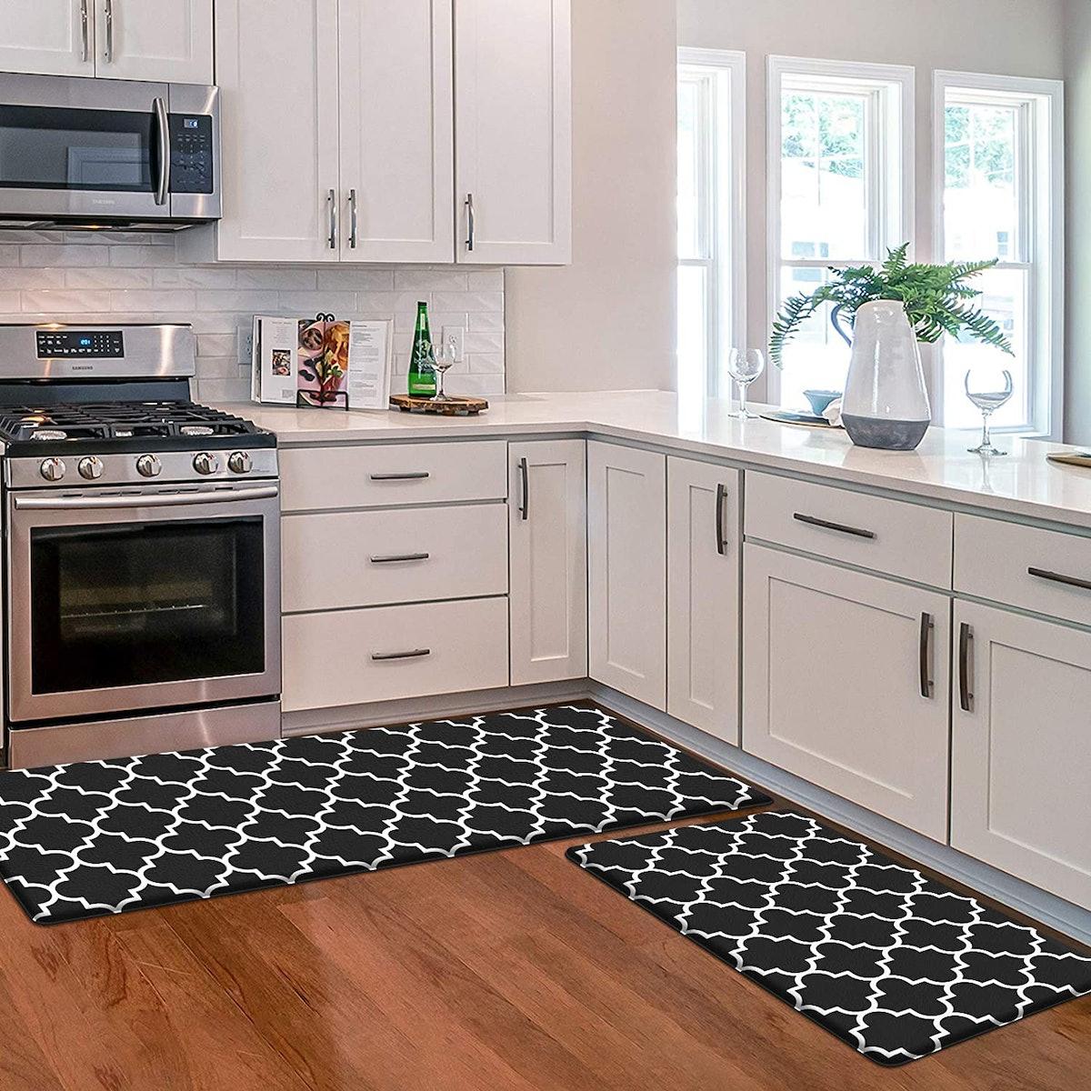 KMAT Kitchen Mat Cushioned Anti-Fatigue Floor Mat (2 Pieces)