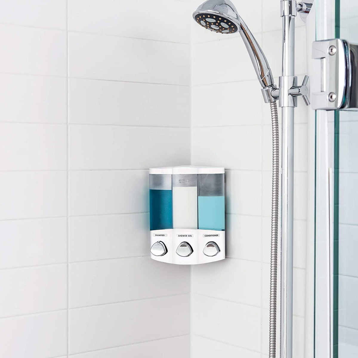 Better Living Products 3-Chamber Soap and Shower Dispenser