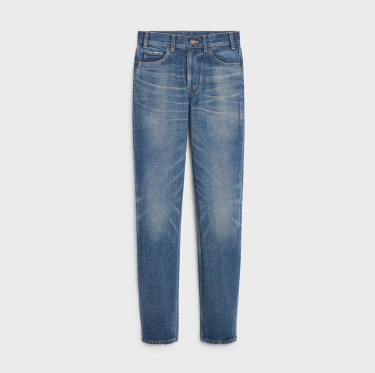 CELINE's slim-fit jeans in dark union wash.