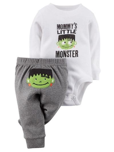 Halloween Bodysuit & Pant Set Little Monster