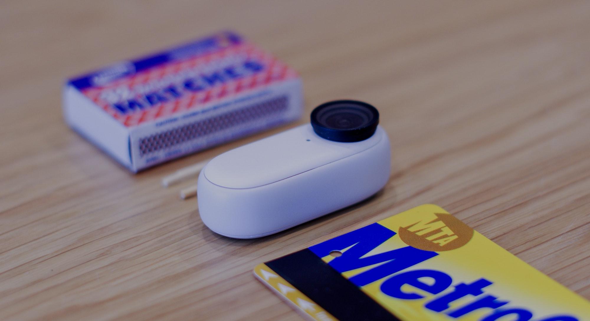 Insta360 Go 2 action cam review matchbox metrocard