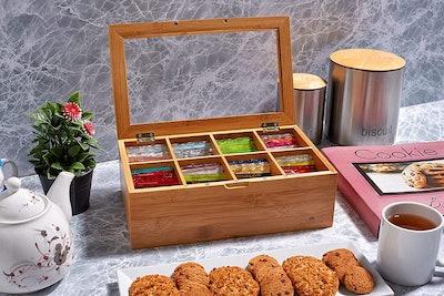 RoyalHouse Bamboo Tea Box Organizer