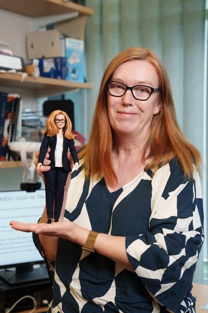 Professor Gilbert was honored with her own Barbie.