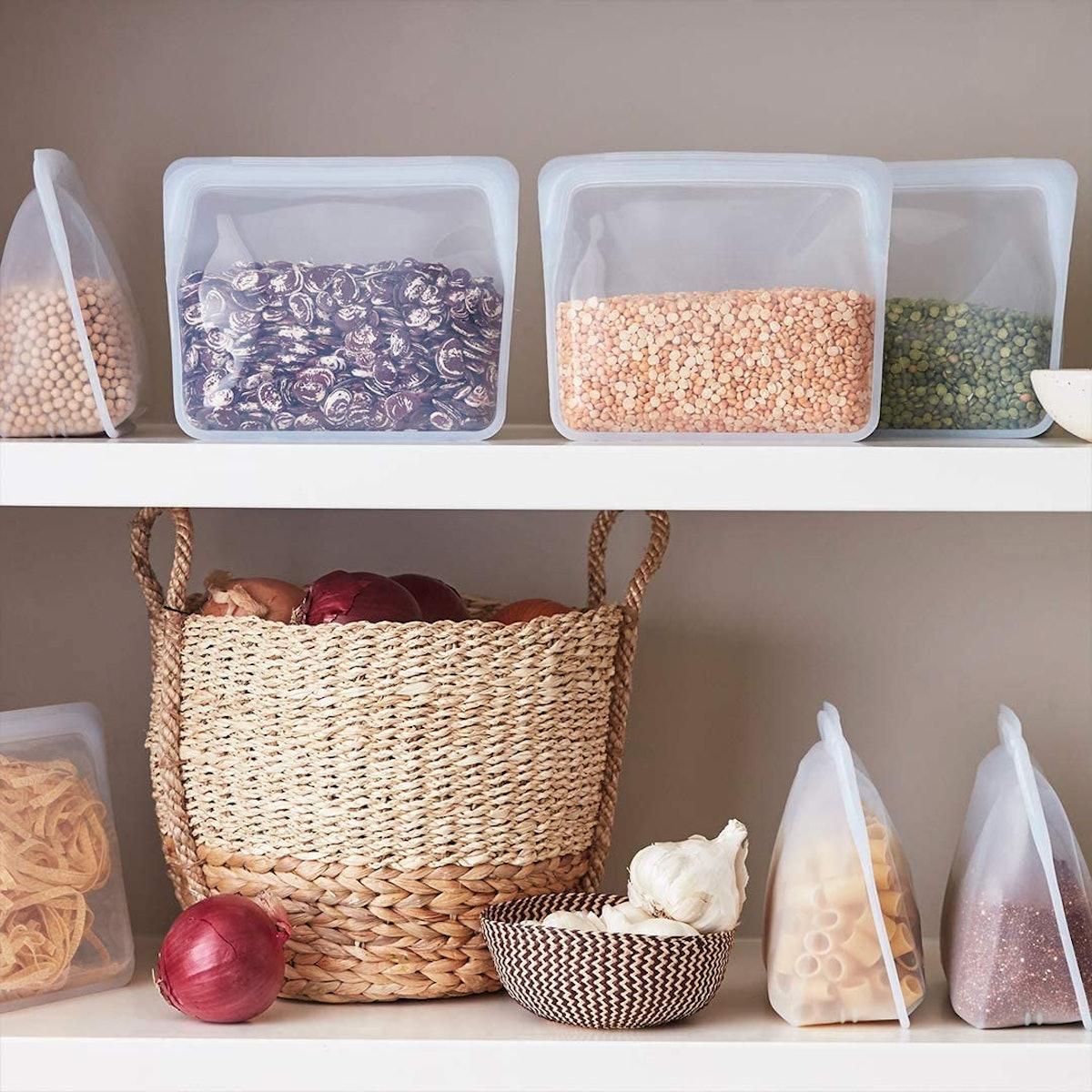 Stasher Platinum Silicone Reusable Storage Bag