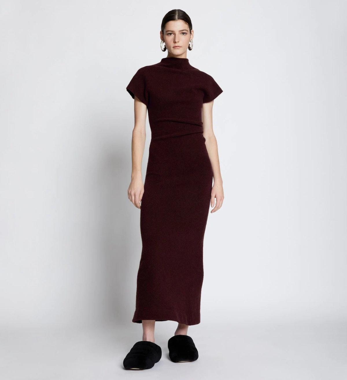 Wool Knit Twisted Dress