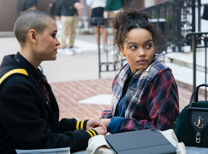 Jordan Alexander and Whitney Peak in 'Gossip Girl.'
