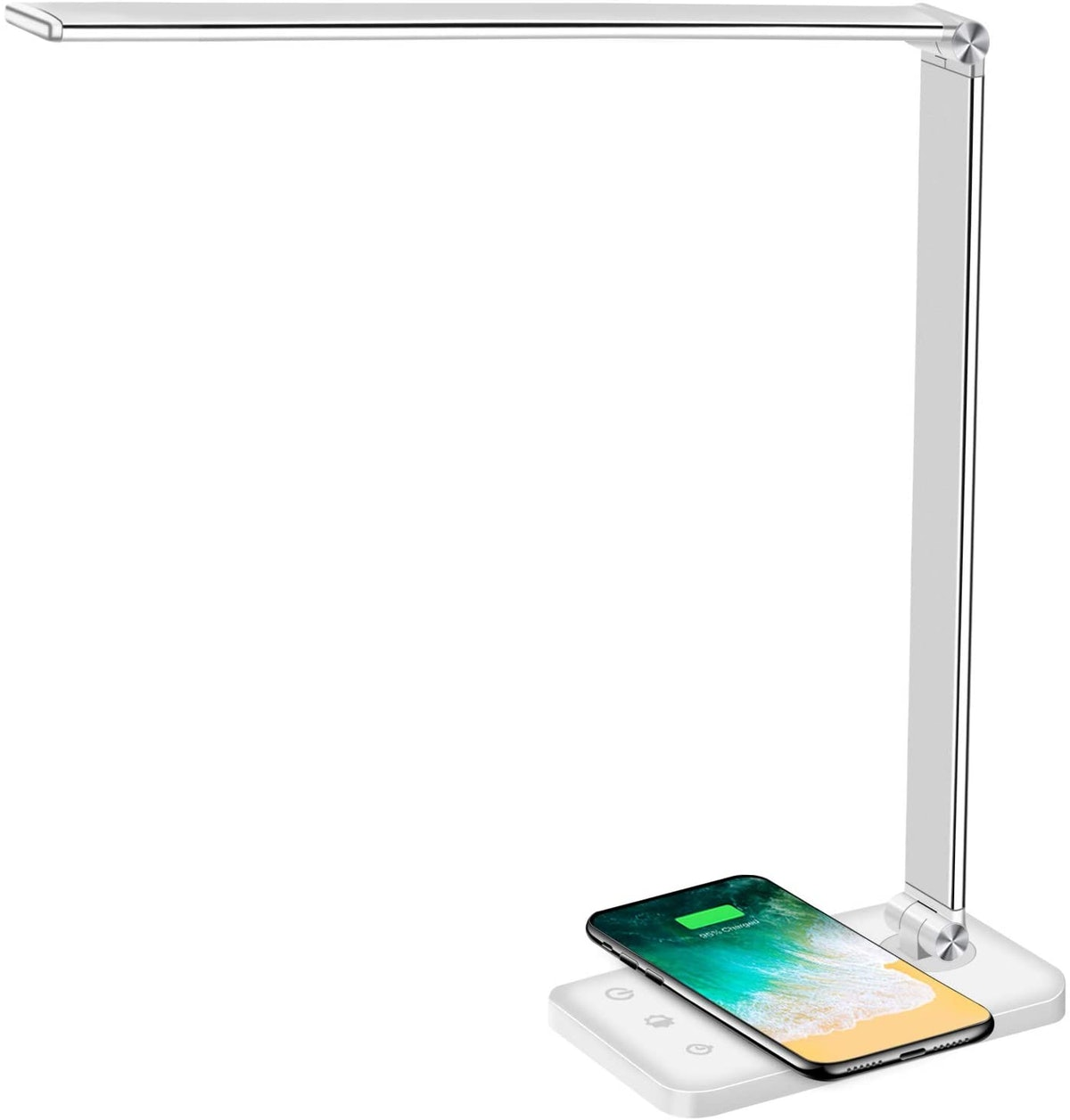 Multifunctional LED Desk Lamp with Wireless Charger & USB Charging Port