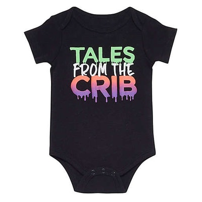 """Baby Starters® """"Tales From The Crib"""" Short Sleeve Bodysuit in Black"""