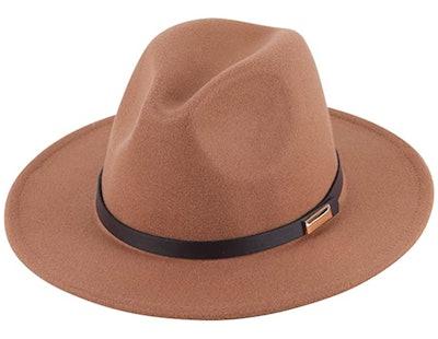 Lanzom Lady Wide-Brim Floppy Hat