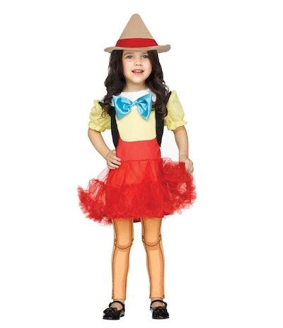 Pinocchio Toddler Girl Halloween Costume