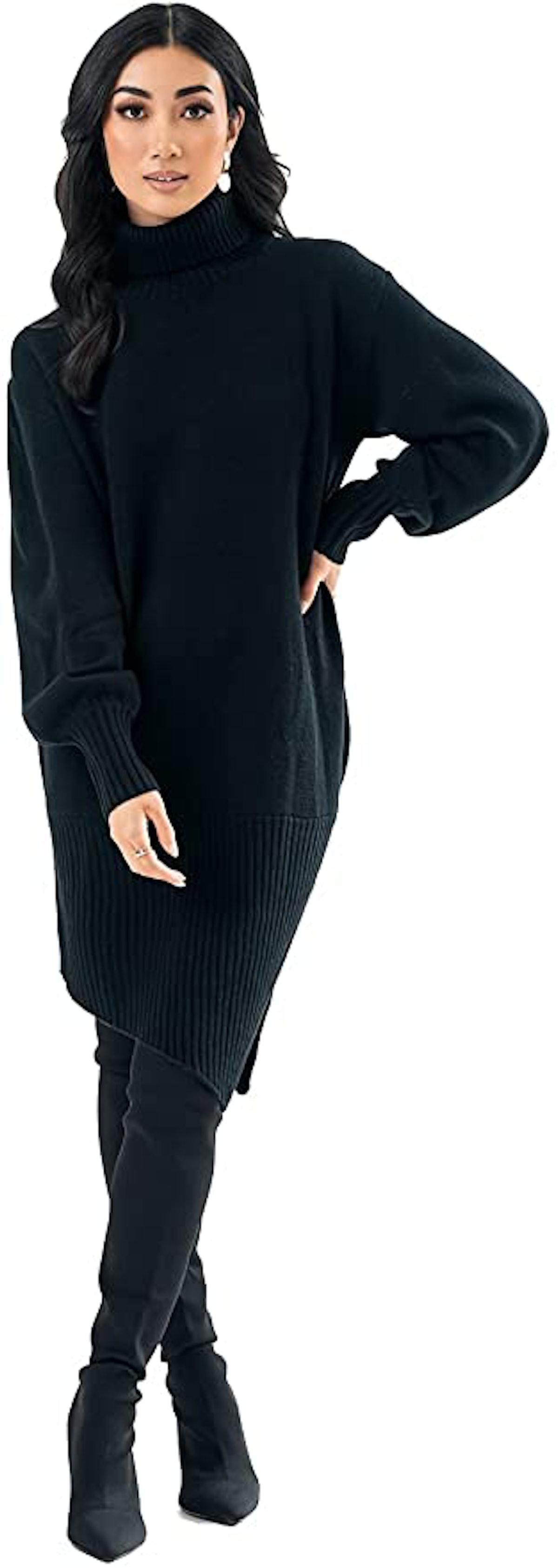 Pantora Sabrina Asymmetrical Sweater Dress