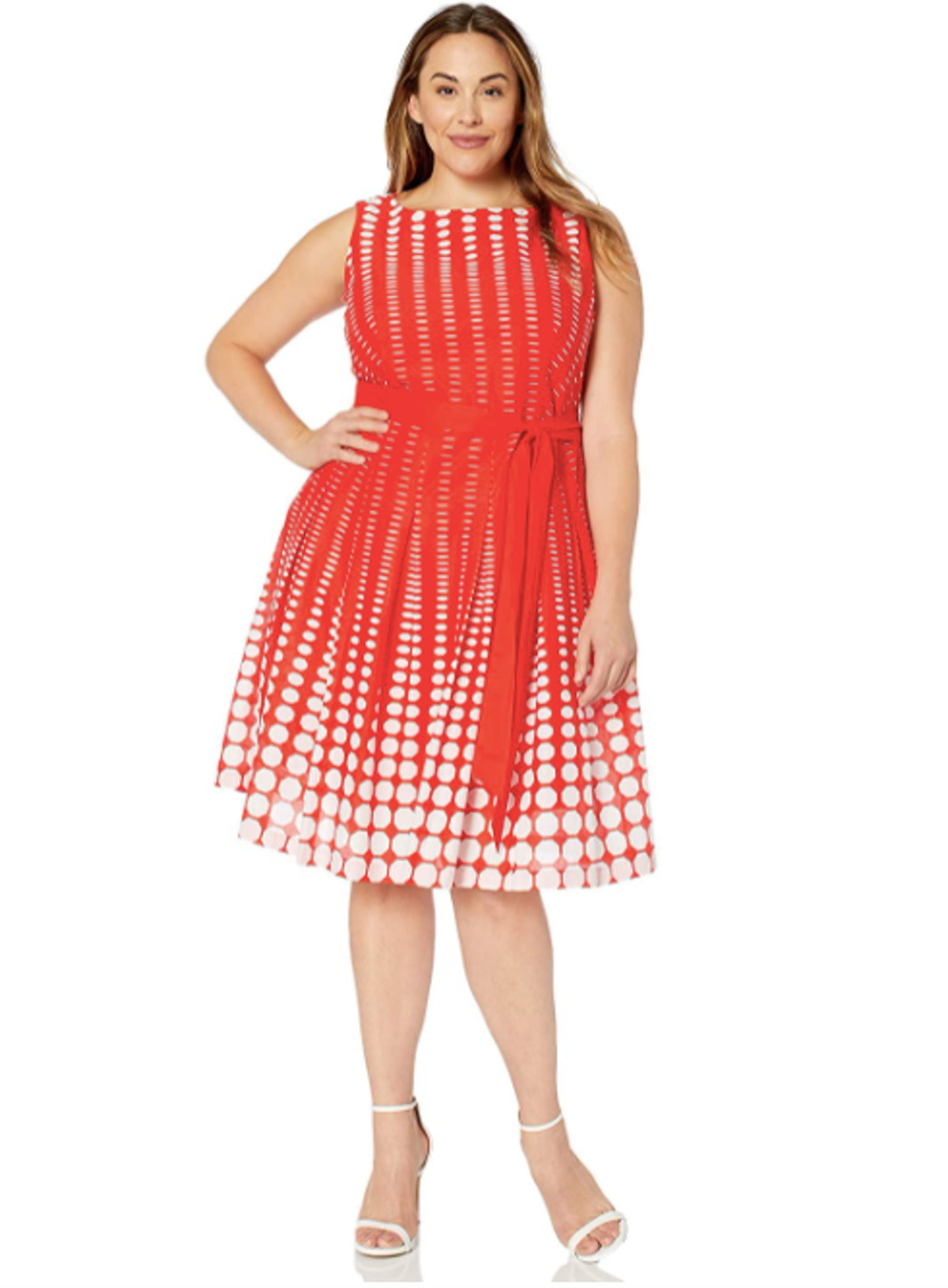 Anne Klein Plus-Size Cotton Fit And Flare Dress