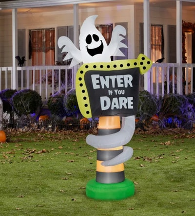 Gemmy Airblown Ghost Trick or Treat Sign