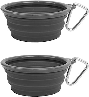 Prima Pet Collapsible Silicone Travel Bowls (2-Pack)
