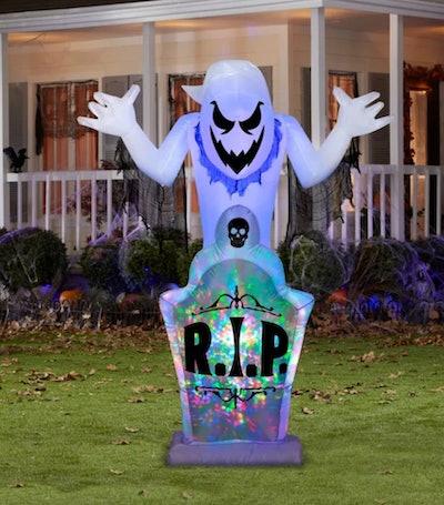 Gemmy Projection Airblown Kaleidoscope Ghost & Tombstone