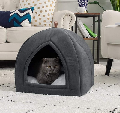 Bedsure Cat Tent With Removable Cushioned Pillow