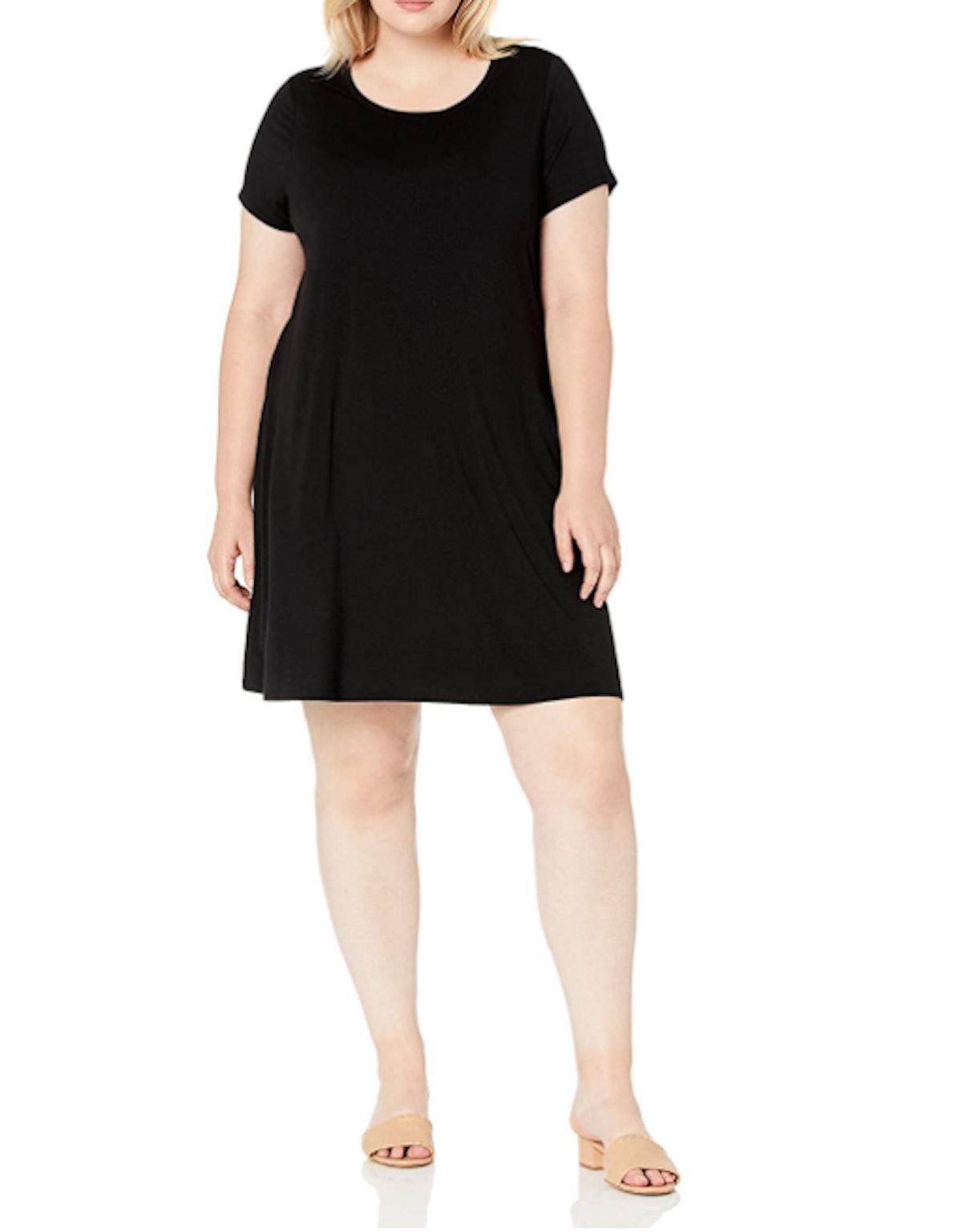 Amazon Essentials Plus-Size Short-Sleeve Swing Dress