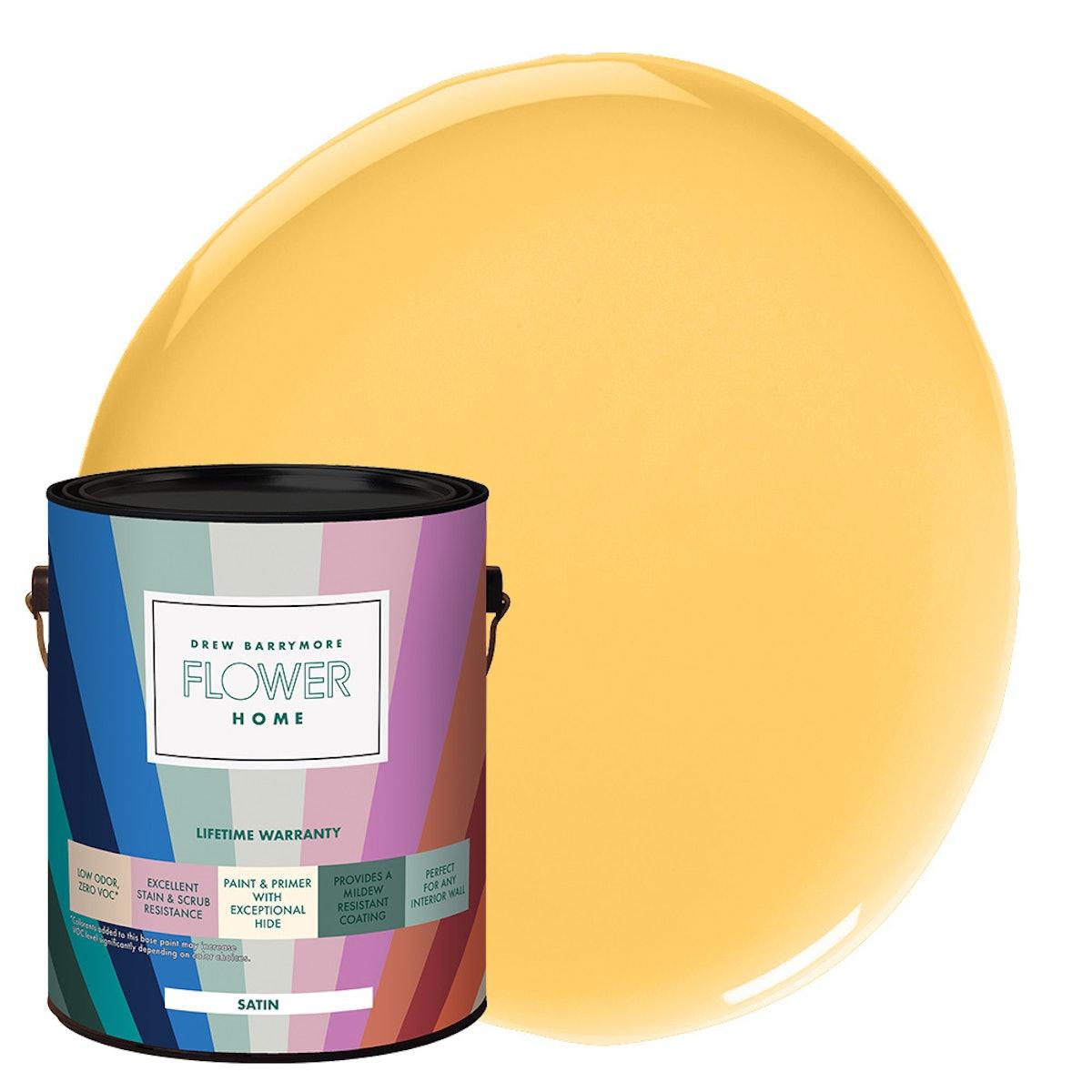 Lemon Yellow Interior Paint, 1 Gallon, Satin