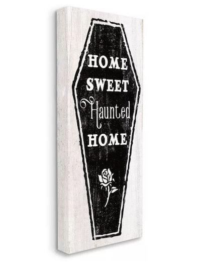 Stupell Industries Home Sweet Haunted Halloween Rose Casket