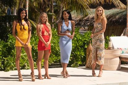 CJ Franco, Sarah Emig, Nakia Renee, Nikki Glaser in 'FBoy Island.'