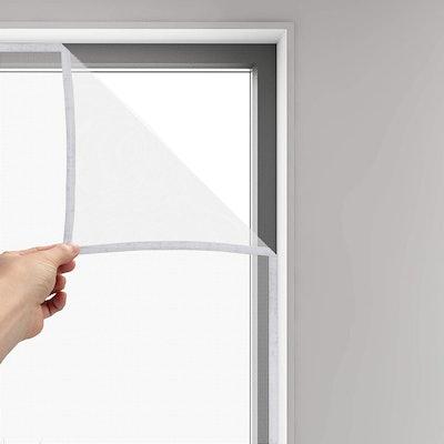 FLYZZZ DIY Self-Adhesive Window Screen (2- Pack)