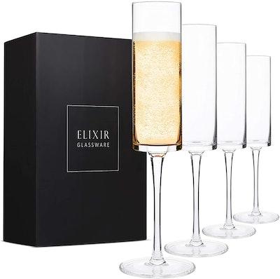Elixier Glassware Champagne Flutes (Set of 4)