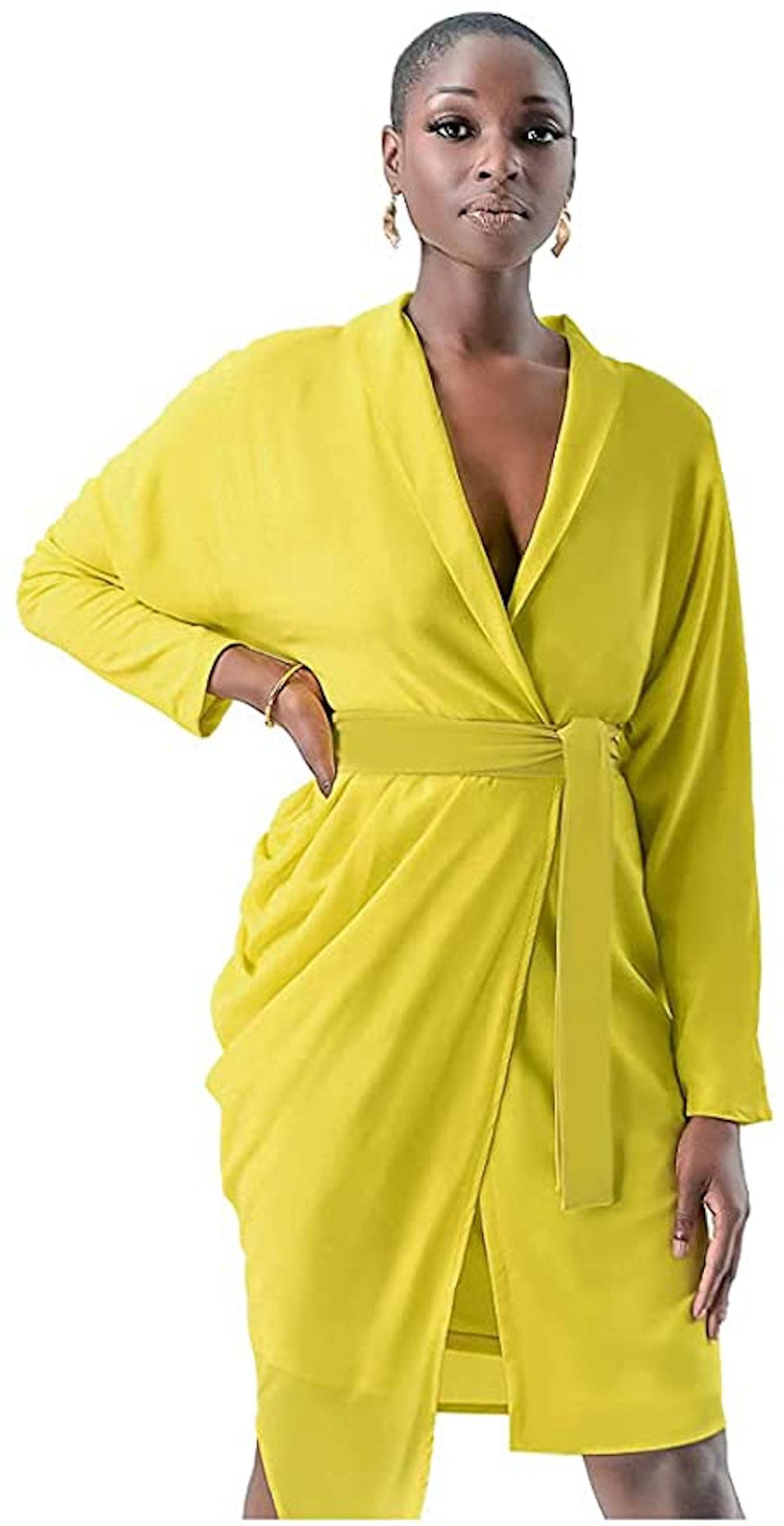 Pantora Wanda Draped Asymmetrical Wrap Dress