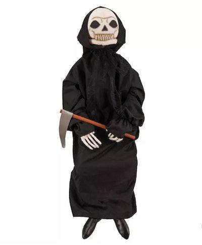 """Gallerie II 42"""" Sitting Grim Reaper Halloween Figure"""
