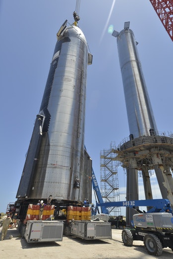 SpaceX Starship getting ready to stack up.